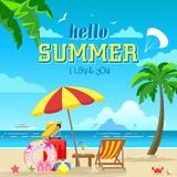 Summer vacation poster - 164703519