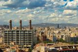 Widok z lotu ptaka Barcelona miasta Hiszpanii.