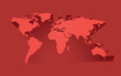 abstract red world map
