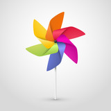 Fototapety color pinwheel