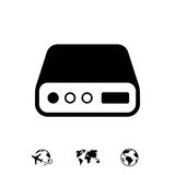 hard drive icon stock vector illustration flat design - 164717504