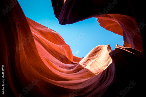 Extraordinary bends of rocks in the Lower Canyon of Antelope