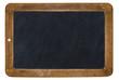 Leinwanddruck Bild - alte Kreidetafel isoliert auf weißem Hintergrund