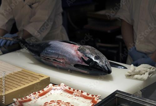 Tuna waiting to be prepared