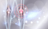 Joint treatment abstract background with beautiful glow and wave at the background - 164758111