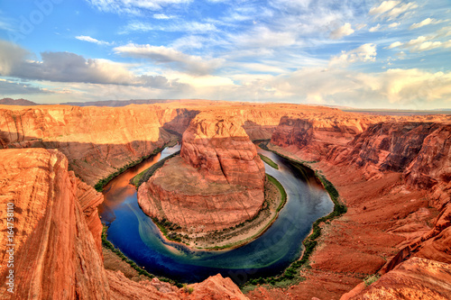 Fotobehang Natuur Park Horseshoe Bend on Colorado River at Sunrise, Utah