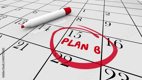 Plan B Calendar Day Date New Strategy 3d Animation