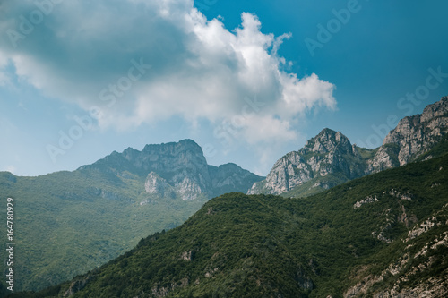 Beautiful mountains nature landscape at summer daytime