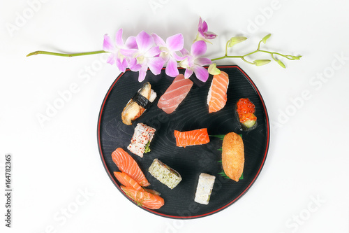 Healthy Colorful Sushi.