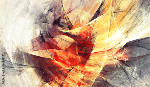 Jasne artystyczne plamy. Malarstwo abstrakcyjne tekstury kolorów. Nowoczesny futurystyczny wzór. Błyszczące wielokolorowe dynamiczne tło. Fraktalna grafika do kreatywnego projektowania graficznego