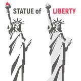 Statue of Liberty. New York landmark. American symbol. Isolated vector image.
