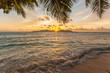Quadro coucher de soleil sur Praslin, vue de la Digue, les Seychelles