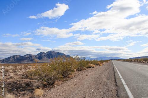 Road Through Desert Landscape
