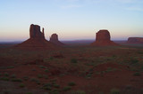 Sunset on Monument Valley