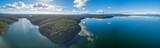 Aerial panoramic view of Croajingolong national Park and Wallagaraugh River, Australia - 164819773