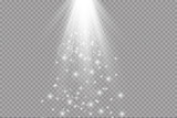 Fototapety light beam isolated on transparent background. Vector illustration
