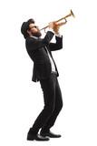 Fototapety Musician playing a trumpet