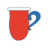 coffee cup ceramic beverage icon vector illustration