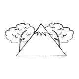 big mountains isolated icon vector illustration design - 164826777