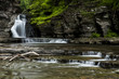Scenic Waterfall - Manorkill Falls - Catskill Mountains - New York - 164827986