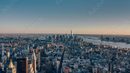Sunset over New York Skyline