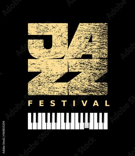 Fotobehang Muziek Vector Jazz flyer on grunge background