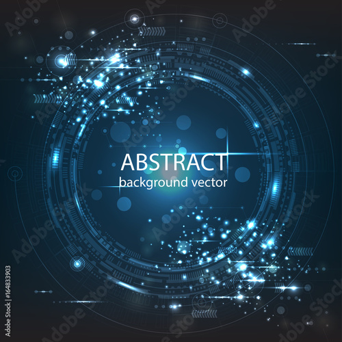 Abstract technology vector background.