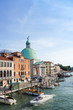 Quadro VENICE, ITALY - May 18, 2017.View of water street and old buildings in Venice on May 18, 2017. its entirety is listed as a World Heritage Site, along with its lagoon
