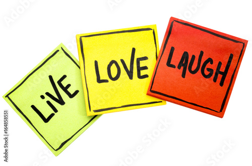 live, love, laugh - reminder notes Poster