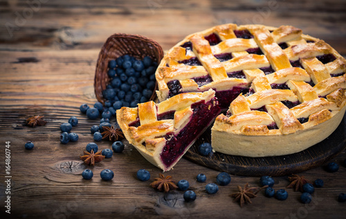 Wall mural Blueberry pie