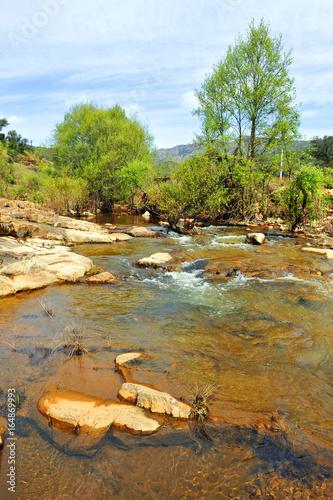 Tuinposter Rio de Janeiro Río Frío, Parque Natural del Valle de Alcudia y Sierra Madrona, provincia de Ciudad Real, España