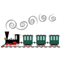 Vector illustration of a toy train
