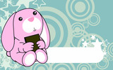cute baby bunny book background in vector format very easy to edit