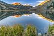 Crystal Lake Colorado in the San Juan Mountains