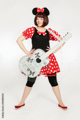 Girl in a mouse costume Poster