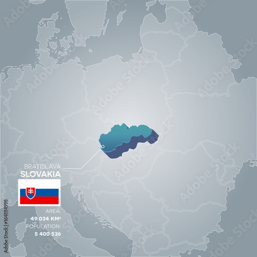 Slovakia information map. Poster