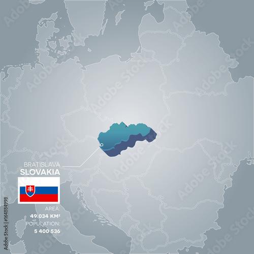 Plakát Slovakia information map.