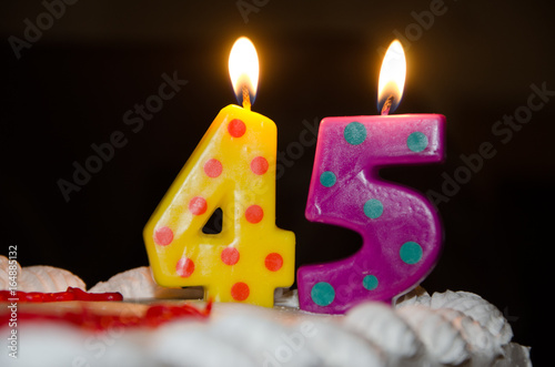 45th Birthday плакат