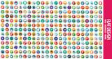 Fototapety 300 Flat Icons