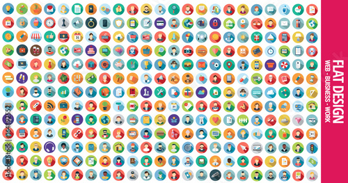 Fridge magnet 300 Flat Icons