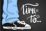 Czas na... Pop art - trampki i niebieskie dżinsy