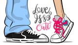 Love is so cute - grafika w stylu pop art