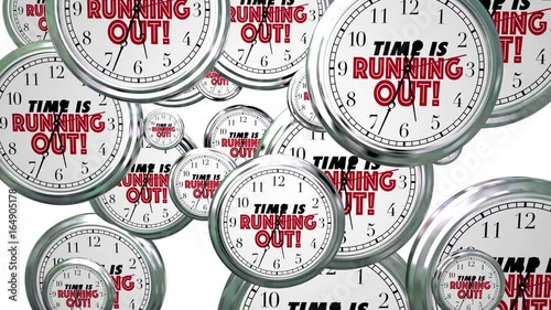 Time is Running Out Clocks Flying By Deadline Reminder 3d Animation