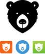 Bear Face Icon - Illustration