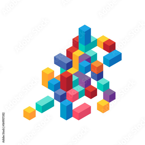 Abstract modern colorful geometric isometric background