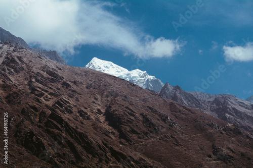 Majestic frozen mountains of Himalayas