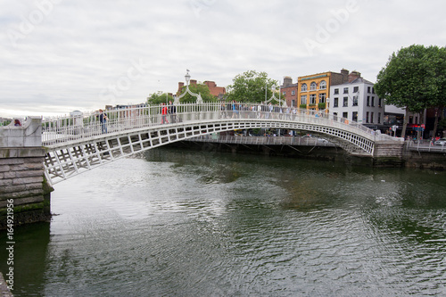 Travel in Ireland. Dublin, Ha'penny bridge Poster