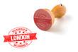 roleta: Holzstempel - Willkommen in London