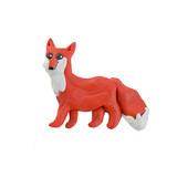 Plasticine  fox  sculpture isolated