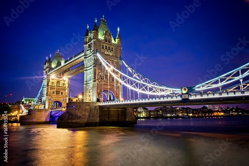 Foto op Canvas Londen Tower Bridge at Night